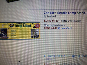 Stand for reptile lamp