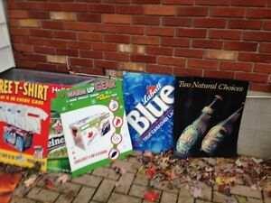 Top Beer Ads Cardboard Weight Posters avail... London Ontario image 1