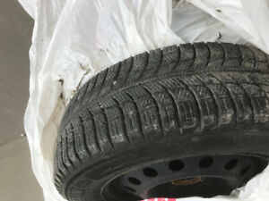 Michelin X-Ice 195/65R15 set of 4 winter tires on steel rims