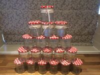 Bonne Maman Jam Jars, candle holders, wedding, sweets, Christmas crafts