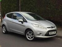 2012 (12) FORD FIESTA 1.2 ZETEC + 1 LADY OWNER CAR + FULL SERVICE HISTORY +