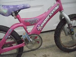 CUTE GIRL'S 16 INCH SUPER-CYCLE SUMMER BLAST.
