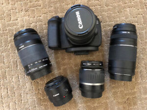 EOS Canon 60D SLR in GREAT Shape...with 5 Lenses!