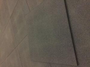 """LDS Rubber shock mat - gym flooring 19.75"""" x 19.75"""" 14mm thick"""