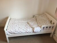 John Lewis Toddler Bed with mattress