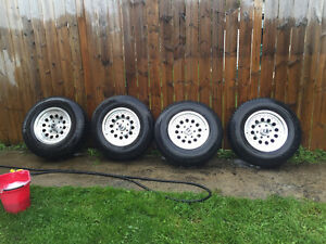 "Chevrolet 16"" rims and tires 6 bolt"