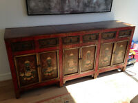 Hand Painted Antique Chinese Cabinet