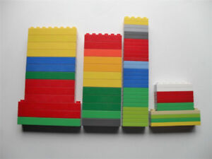 Lot of 65 LEGO - Duplo Building Thick &Thin Plate Blocks
