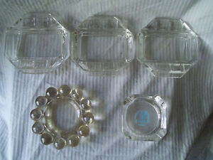 6 - Glass Ashtrays