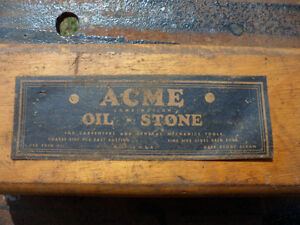 From Estate - Used Antique Acme Oil Stone