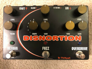 Original Pigtronix Disnortion (Fuzz/Overdrive/Octavia) w/box