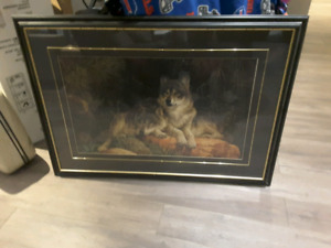 Framed Wolf picture