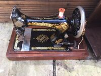 1886 Singer Sewing Machine in Wooden Case
