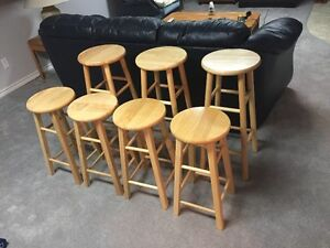 Bar stools and electrical switches and plug ins