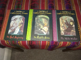 A Series Of Unfortunate Events books. Books 1-3