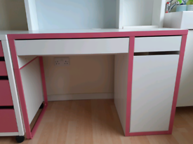 IKEA Micke Desk, drawer unit and chair