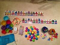 Baby bundle- puzzles, phone, cups, magnetic numbers & letters