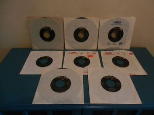 """Vinyl Records/45 RPM 7"""" Singles Hall and Oates Lot of 8"""