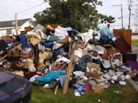 Junk and garbage pick ups flat rates clean out apartments
