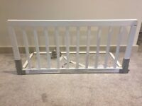 BabyDan Wooden Bed Guard Rail - White - Excellent Condition