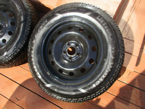 WINTER TIRES + RIMES  235 /65 / 17  LIKE NEW  NEW