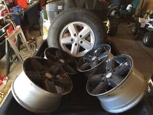 08 Jeep Wrangler jk wheels with brand new full size spare