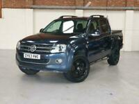 2013 63 VW AMAROK 2.0 BI TDI AUTO - BLUE WITH BLACK LEATHER - NO VAT