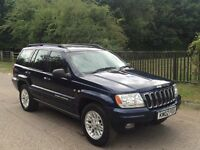 Jeep grand cherokey V8 petrol/lpg limited