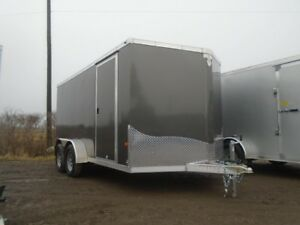 2017 NEO 7' X 14' Tandem Axle Flat Top Enclosed Trailer Serial #