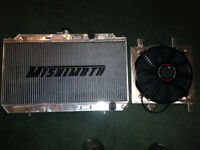 Mishimoto rad with fan shroud for 90-93 integra