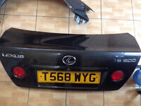 Lexus is200 grey 1c6 bootlid boot tailgate complete 98-05 breaking spares is 200 is300