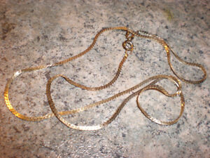 "10K GOLD NECKLACE 15"".... $55"