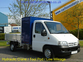 Citroen Relay 2.2 Hdi Dropside+ Hydraulic Crane Low Mileage 2006/ 06
