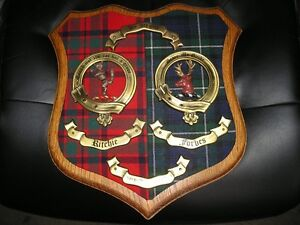 FORBES / RITCHIE MacINTOSH DUAL SCOTTISH CLAN CREST WALL PLAQUE