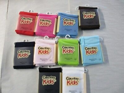 Girls Pima Cotton Opaque Tights by Country Kids Size 1-3 YRS