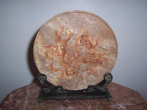 Marble plates set of Four Divine Creatures