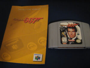 007 Goldeneye N64 game with manual