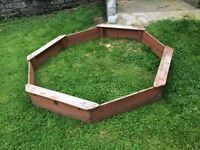 Sand pit large wooden frame by 'plum'