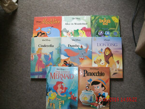 8   Large Walt Disney Hardcover Books
