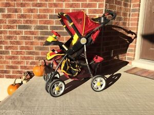 Strollers, sleds, potty trainer, booster seat