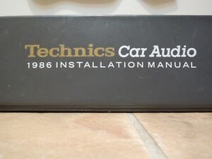 Technics Car Audio Binder Installation Manual Like New!
