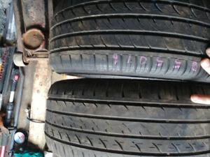 2 pneus 175 70 13 et 2 pneus 205 50 16