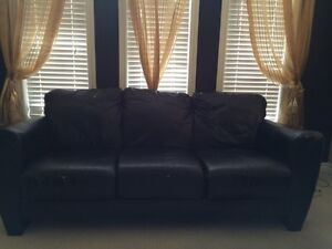 Black Leather Ashley Couch Excellent Condition $350