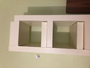 Ikea lack wall shelf unit, white 2 units $50