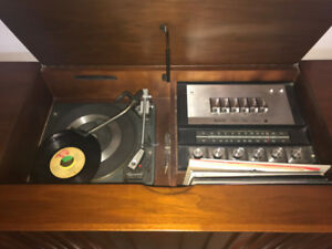 Antique Wooden Record Player