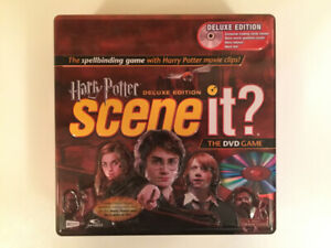 Harry Potter Scene It? Deluxe Edition COMPLETE Tin box DVD Game