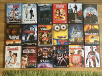 Large collection of DVDS.