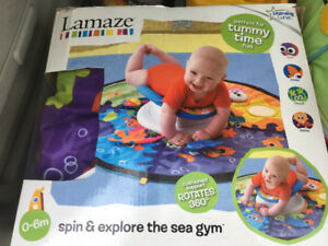 Spin and explore tummy time toy