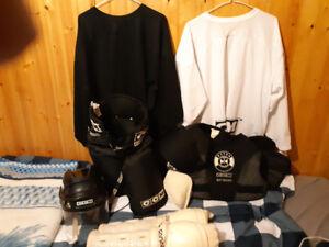 Hockey equipment sale.
