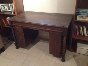Antiques 1920s accountant's desk